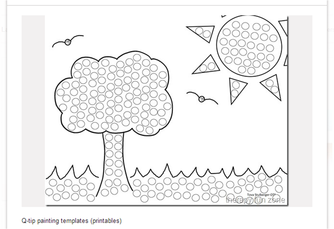q tip coloring pages - photo #12