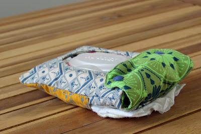 diaper wipe pouch - using Anna Maria Horner fabric