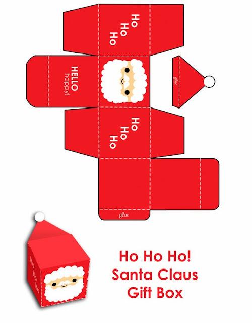 cajas cubo para navidad para imprimir gratis
