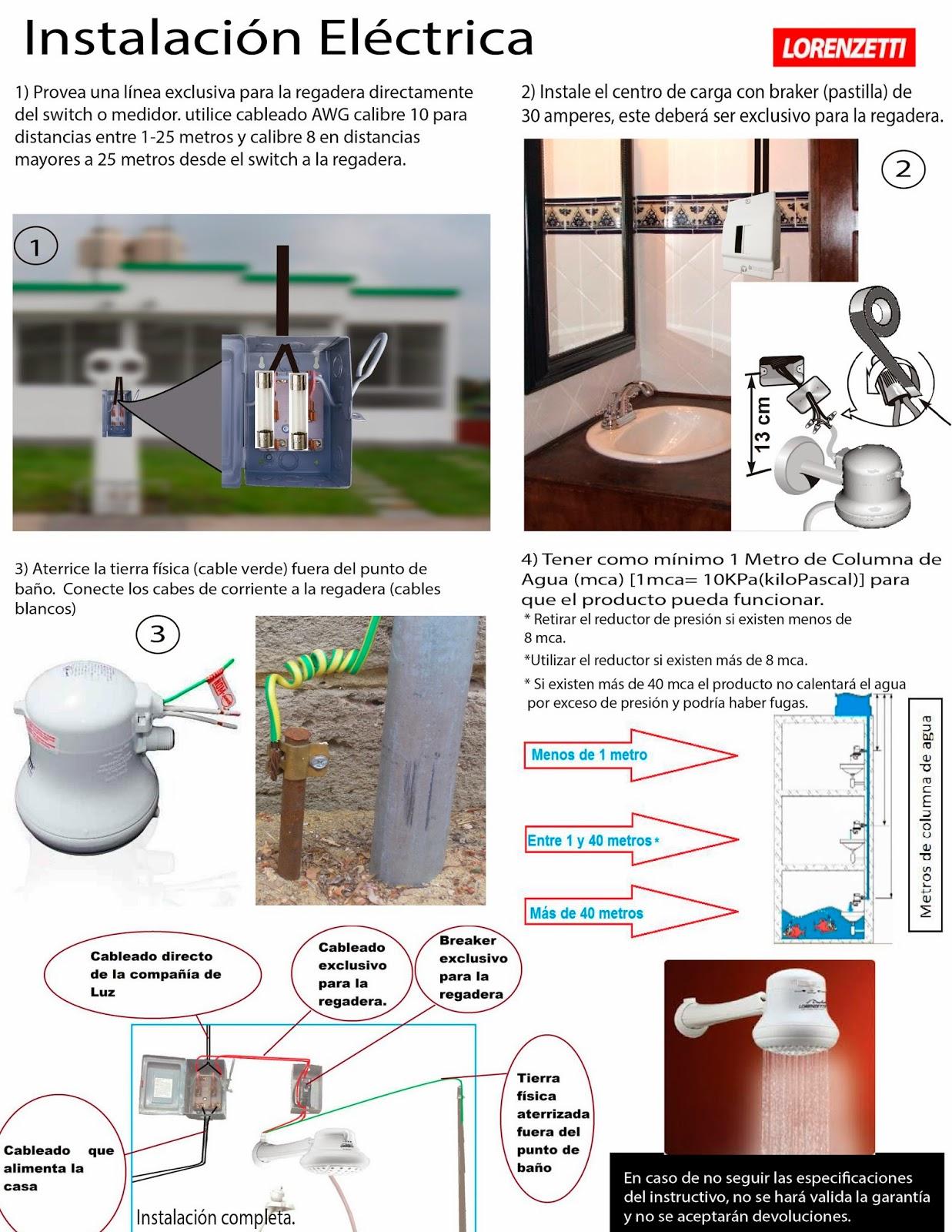 Distribuciones sanver sa de cv enero 2014 for Como conectar una ducha electrica