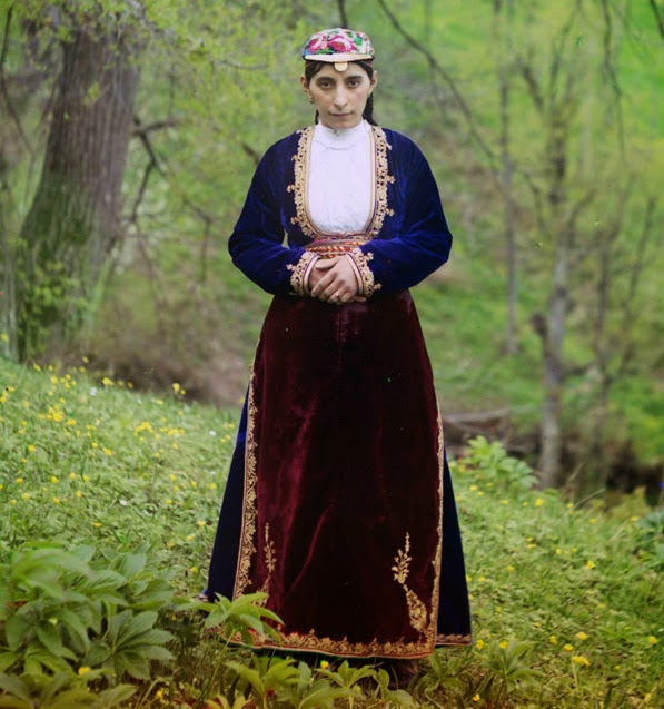 Armenian Girl In National Costume Artvin Ca 1905 Photograph By Sergei Mikhailovich Prokudin Gorskii LOC