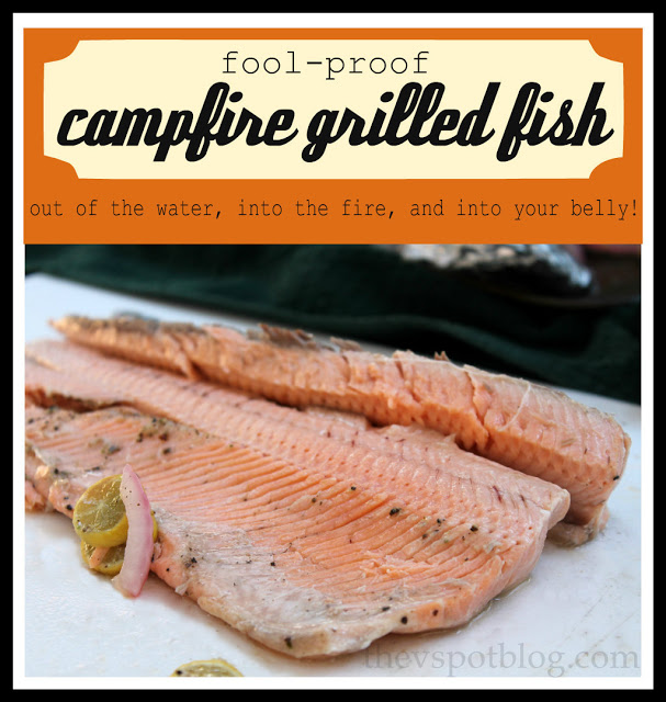 Campfire grilled fish.