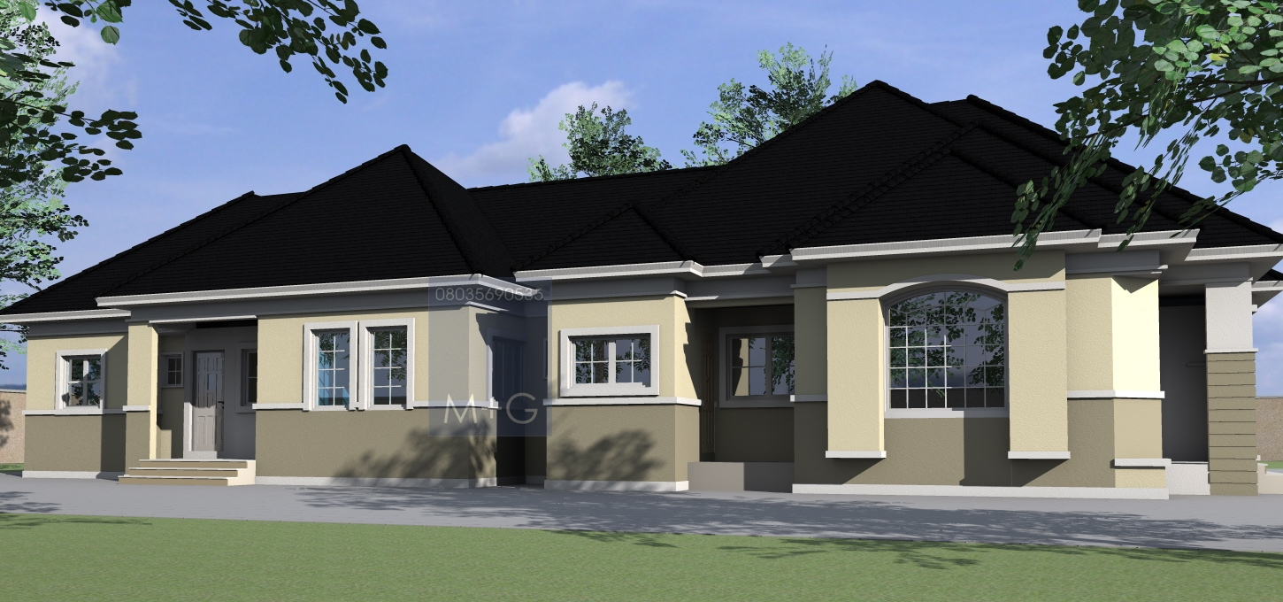 3 bedroom flat plan in nigeria for Nigeria house plans