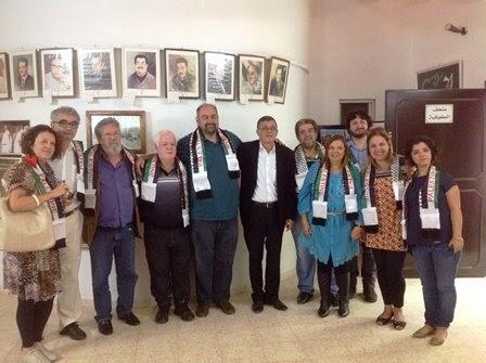 Integrantes da 3ª Missão de Solidariedade ao Povo Palestino