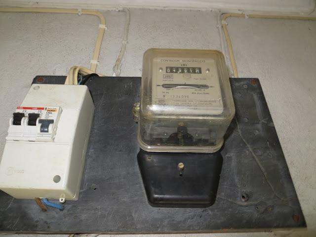 Fotografia Macro de Contador de luz eléctrica