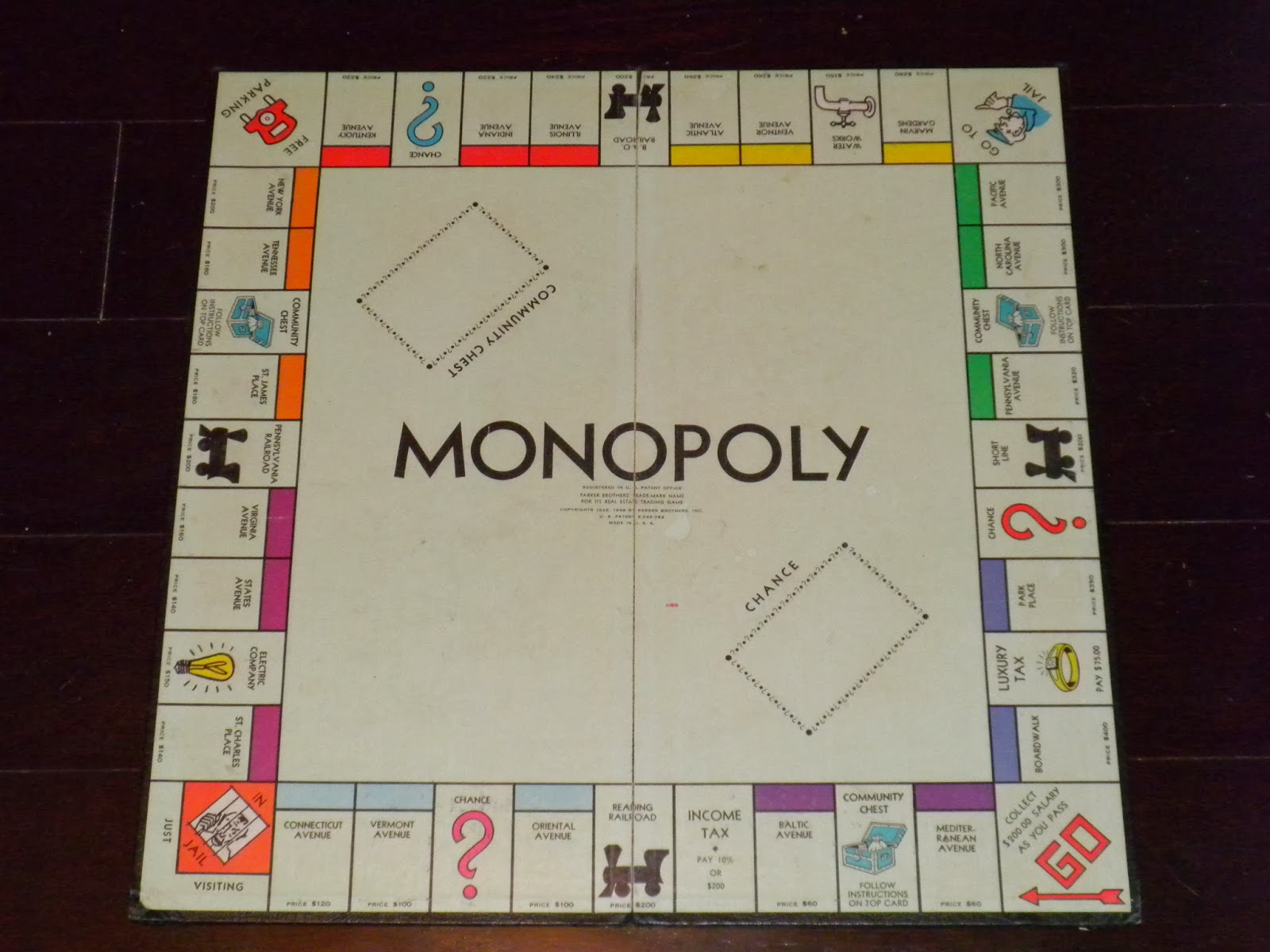 Monopoly Board Game shown on Substance of Living