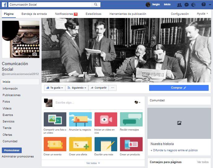 Sigue en Facebook 'Comunicación Social'