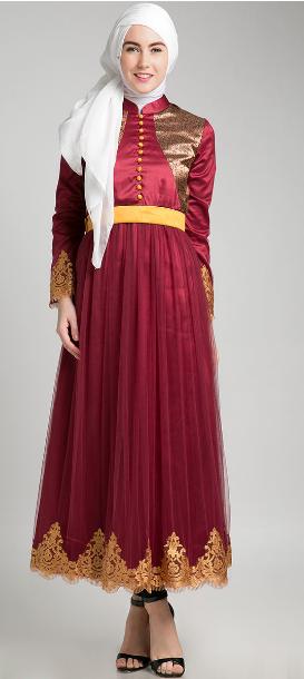 Baju Muslim Pesta Dewasa