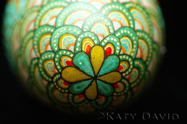 """Shallows"" 2015, Goose Egg, Aniline Dye, Varnish, ©Katy David"