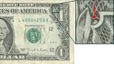 Veja com atenção no lado direito superior do dólar ao lado do