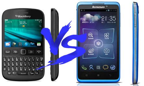 Blackberry 9720 vs Lenovo S890 Specs Comparison.