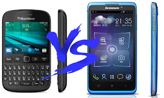 Blackberry 9720 vs Lenovo S890 display performance power battery comparison