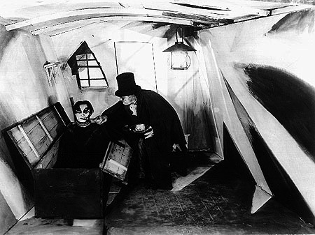 The house of Caligari in The Cabinet of Dr. Caligari
