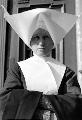 Roman catholic nun in traditional dress she was to be feared obeyed