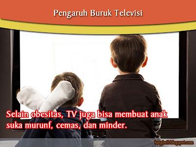tv berpengaruh pada anak suka cemas dan minder