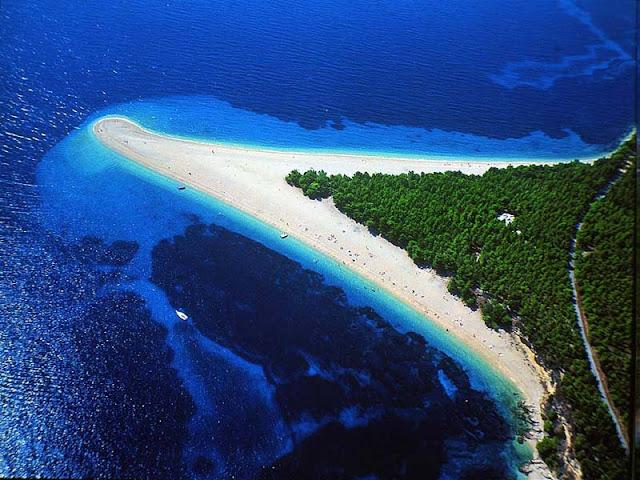 best beach in europe? zlatni rat, croatia, perfect