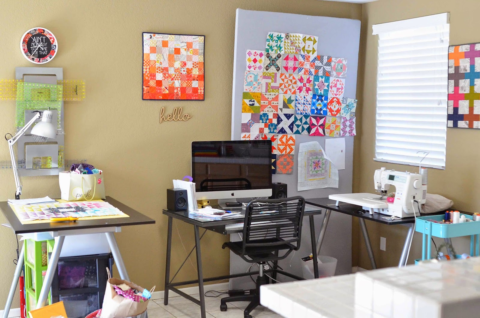 kitchen table quilting sewing room tour