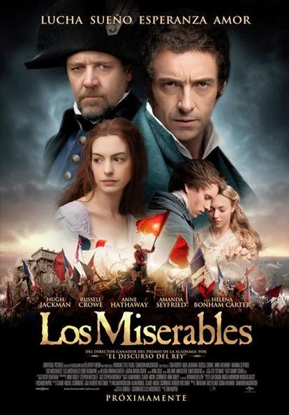 Portada película los miserables Rusell Crowe Hugh Jackman