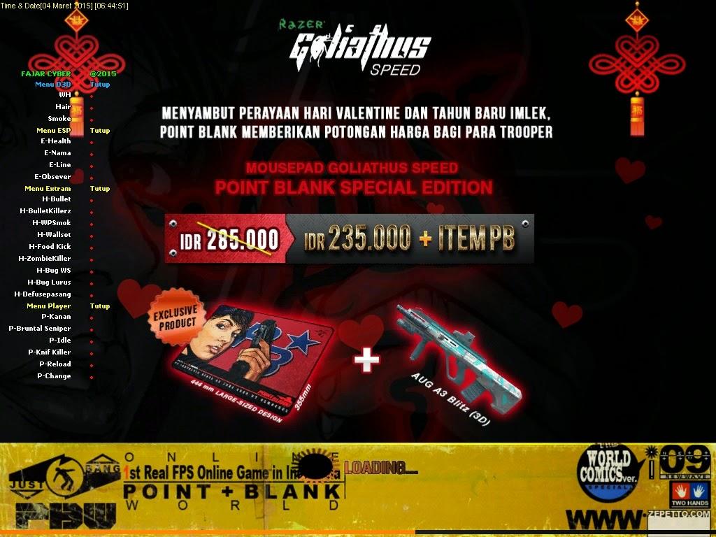 Cheat Point Blank VVIP 5 Maret 2015 [Update 4,5,6,7,8,9,10 Versi WP Smoke Killer, Zombie Killer, Bullet Killer, Wall Shot, dll]