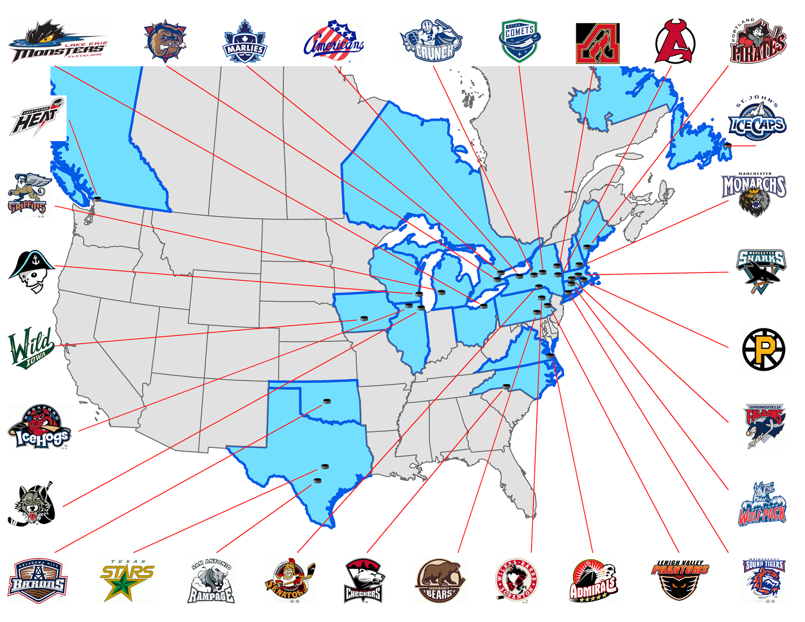 Next Major League Expansion Team: Minor League Hockey: AHL and