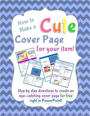 http://www.teacherspayteachers.com/Product/How-to-Make-a-Cute-Cover-Page-For-Your-Items-on-TPT-637201