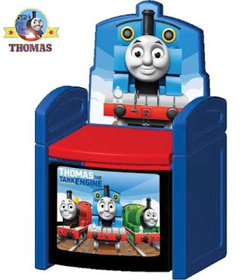 Childrens TV characters Thomas and his friends sit store chair train James Percy tank engine picture