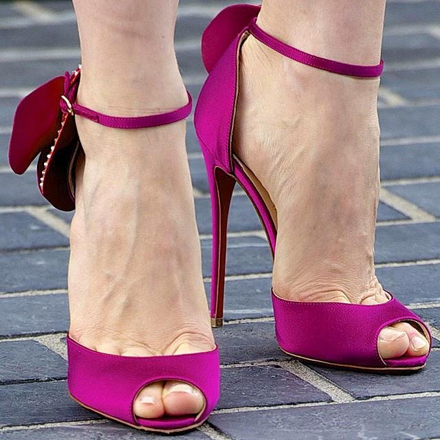 Peeptoe stiletto heels