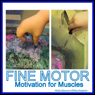 photo of: Fine Motor Motivation for Muscles with Ice at RainbowsWithinReach
