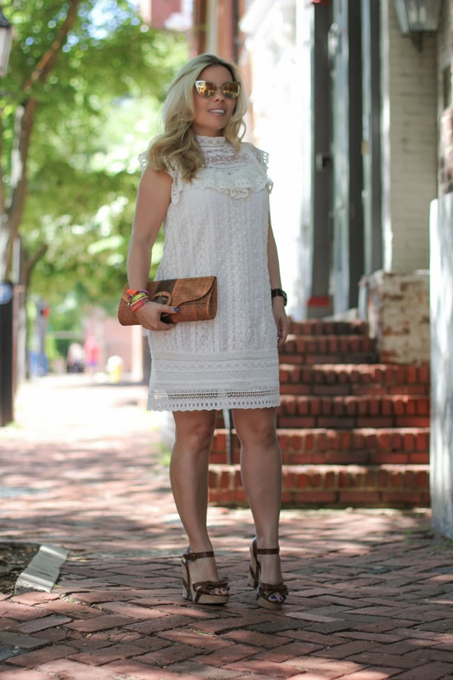 casual white dress for a summer brunch