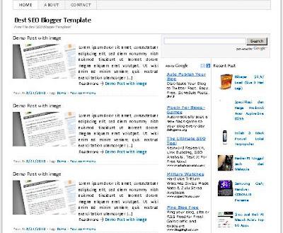 SEO Friendly Blogger template Terpopuler