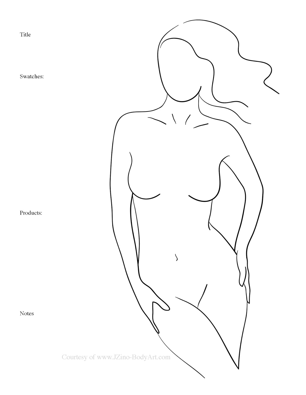 FREE Female Form Body Painting Templates | Paint Me Crazy