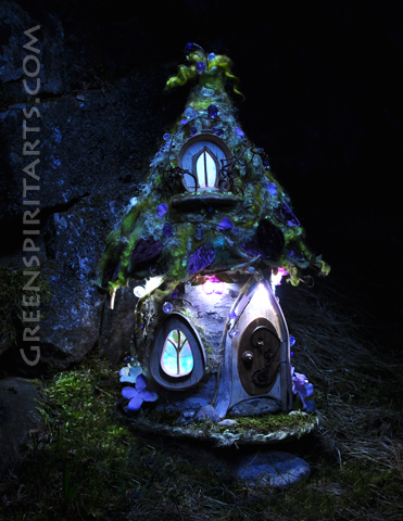 One of Sally Smith's fairy houses