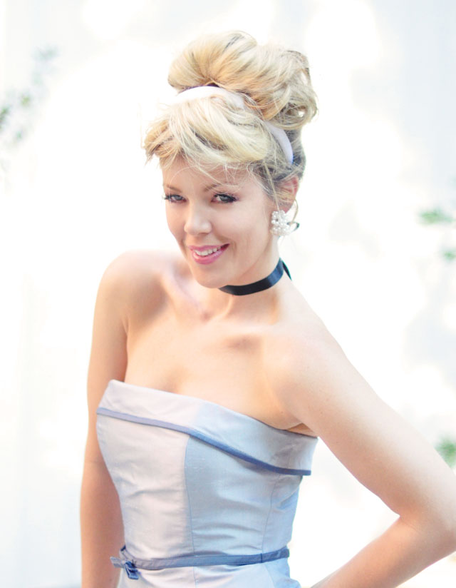 Cinderella Costume, Modern day Cinderella Style makeup and hair