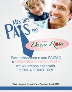 ARMARINHO DONA ROSA - MÊS DOS PAIS