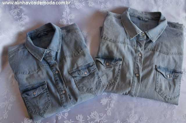 Tal mãe, tal filha - camisa jeans