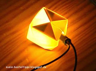 Origami Lichterkette mit Baumwollpapier