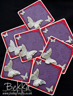 Newsprint Butterfly Card by Bekka Prideaux www.feeling-crafty.co.uk