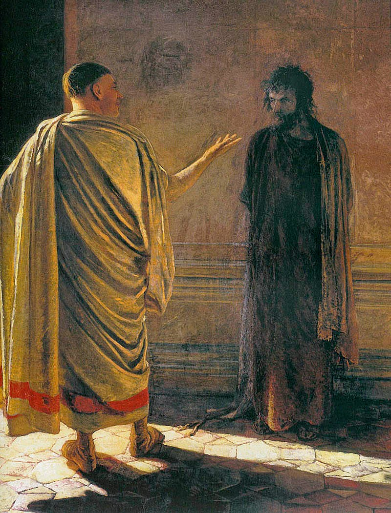 pontius pilate What is the truth do we recognize it when we hear it pontius pilate, a confused leader, in a 2000 year old conversation (yet strangely relevant today) acknowledges his inability to do it by himself.
