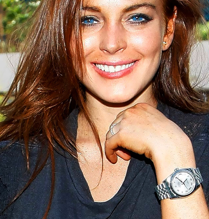 Time to talk watches pretty in pink megan for Celebrity wearing rolex watches