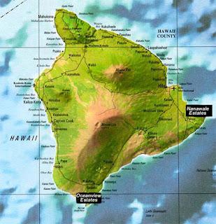 Hawaii big island map for free download