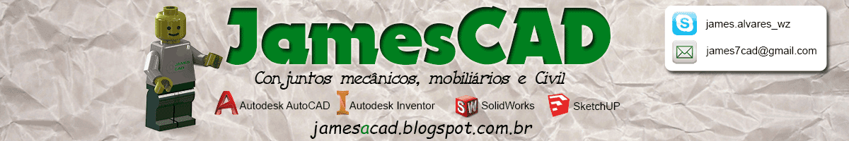 JamesCAD - desenhos mecânicos, civil, mobiliário, pré-moldados e isométricos