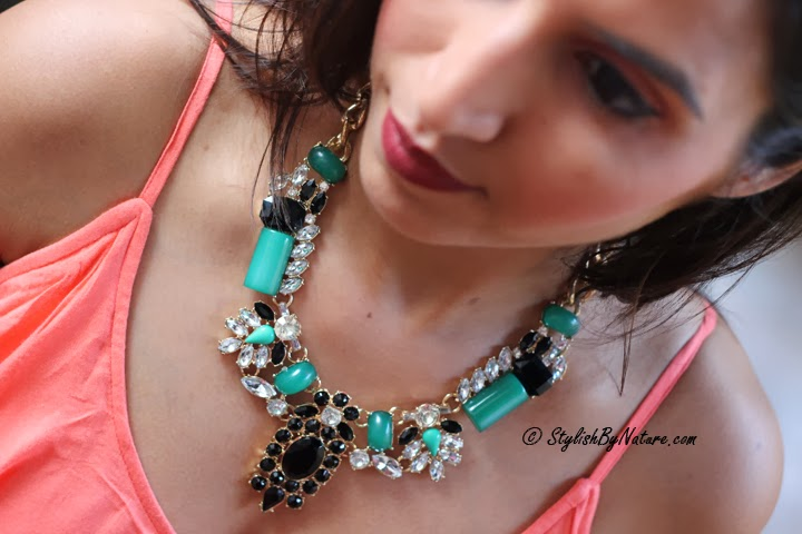 Studded necklace india