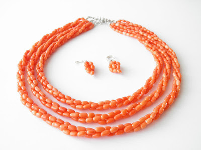biżuteria góralska,koral, ekokoral korale ludowe