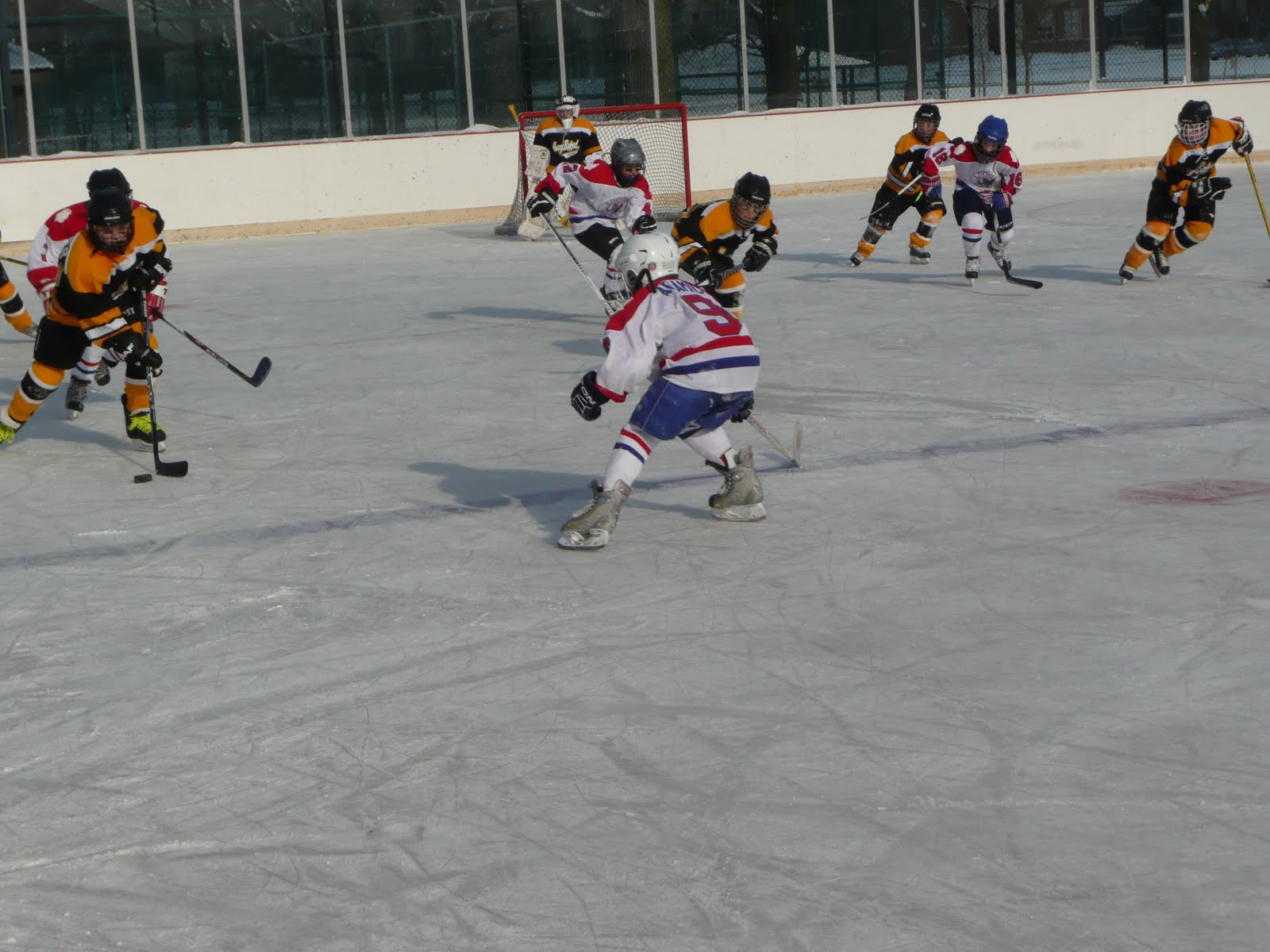 Travel 01 Livonia Lancers Faced Off With The Pee Wee A Honeybaked Dragons From Hazel Park