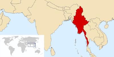 myanmar harita
