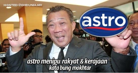 Astro menipu rakyat & kerajaan kerana siarkan iklan - Bung Mokhtar