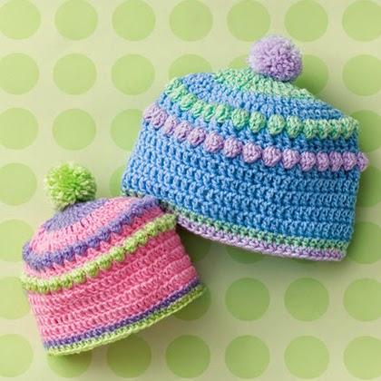 Baby Bobbles Hat Free Crochet Pattern