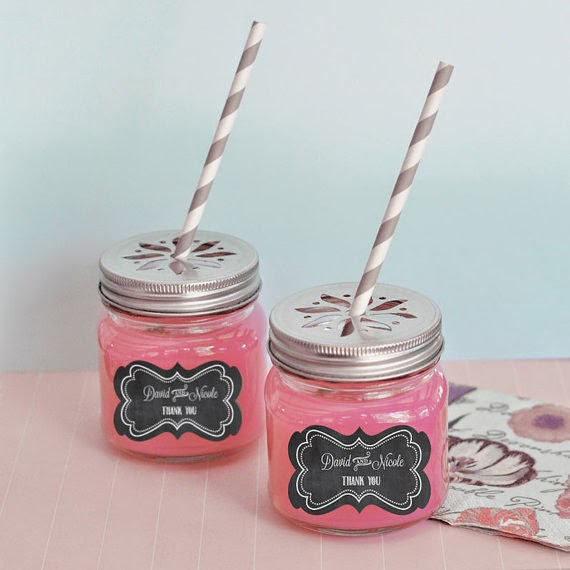 Personalized Chalkboard Label Mason Jars with Daisy Cut Lids Rustic Weddings (24) drink cups