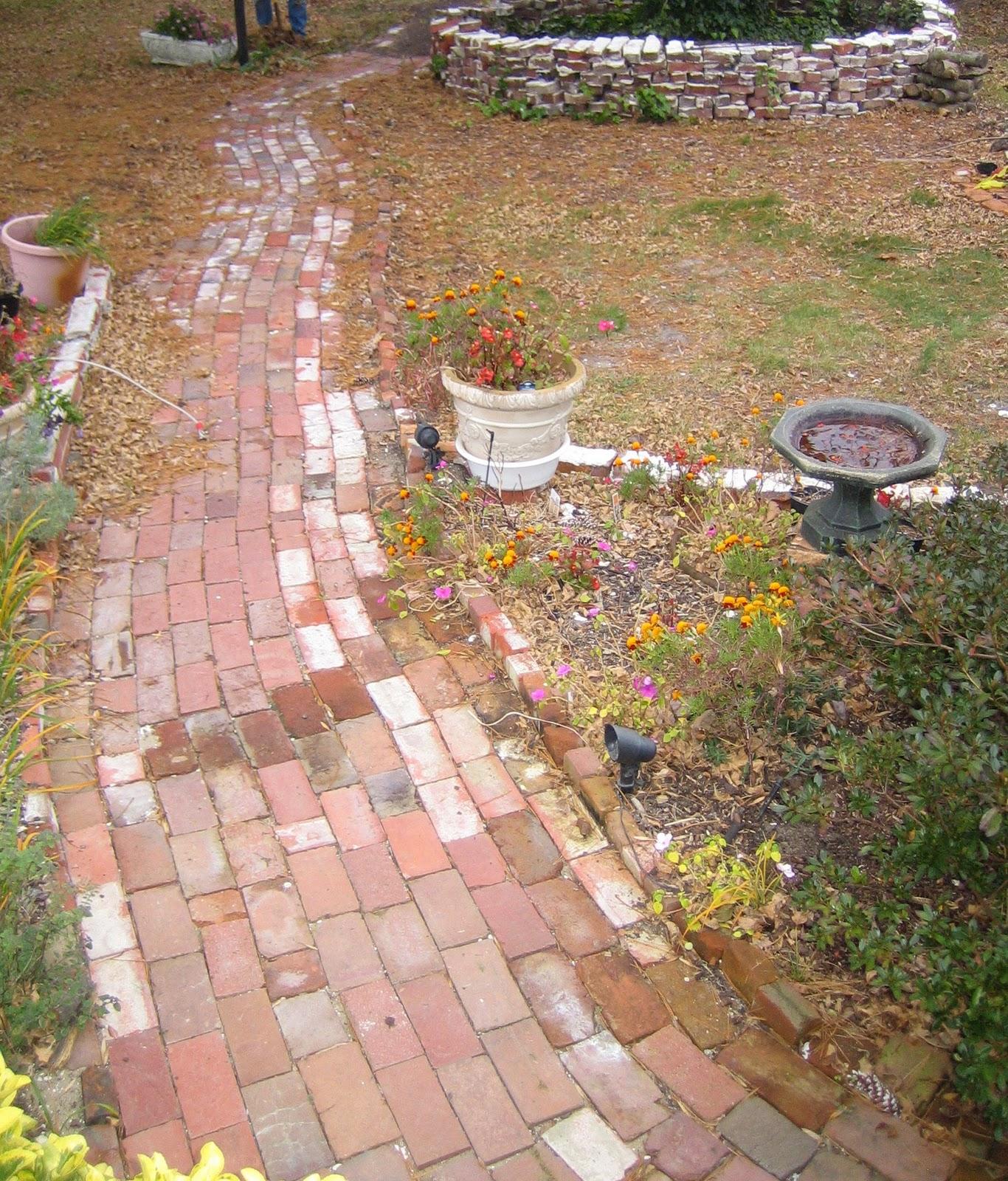 How to lay brick walkway - Brick Walkway Finished Brick Paths Dry Laid Brick Walkway