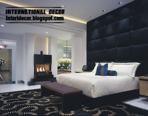interior and architecture: black and white bedrooms designs, paint